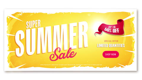 4k Summer Sale Video Ad Template Animation