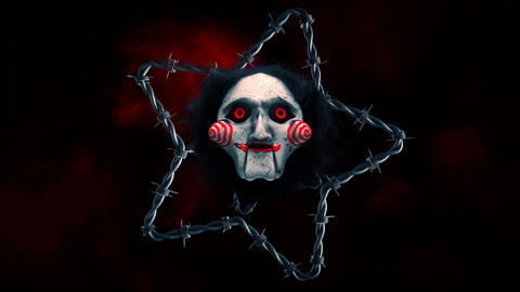 Scary Clown Mask VJ Loop Animation