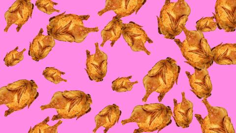 Roasted chicken background Animación