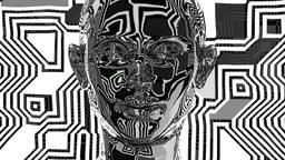 Abstract Woman Head Loop 3D Animation Footage