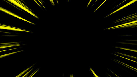 Concentrated line loop - Yellow (with alpha) Animation