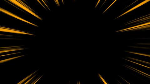 集中線 ループ - オレンジ (アルファ付き) CG動画素材