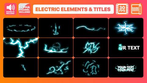Flash FX Electric Elements And Titles Motion Graphics Template