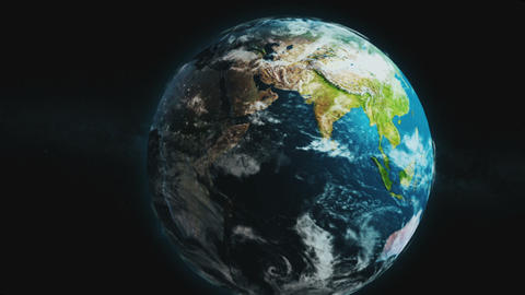 Earth Rotation Zoom Transition Animation