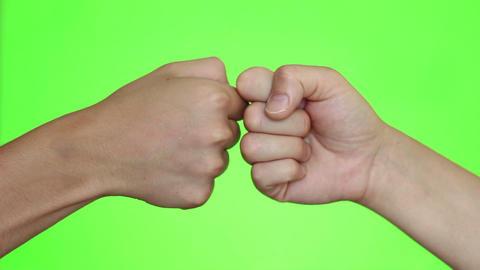 Giving Dap. Friendly Gesture Of Greeting Footage