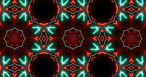 Abstract kaleidoscopic pattern seamless animation Animation