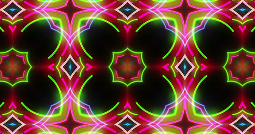 Dynamic kaleidoscope pattern seamless animation Animation