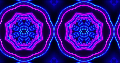 Hypnotic kaleidoscope pattern seamless animation 애니메이션