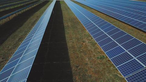 Renewable solar energy. Shot on drone Live Action