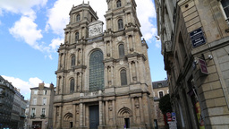 Saint Pierre Cathedral Rennes Brittany France Footage