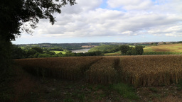 Cornish countryside, Cornwall UK, Near St Michael Penkivel looking towards the R Footage