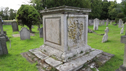 Tomb at St Nicholas Church Chislehurst Kent UK Footage
