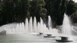 Fountain in Park London Footage