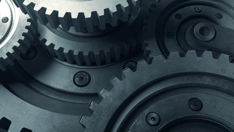 Mechanisms consisting of various gears in the work Animation