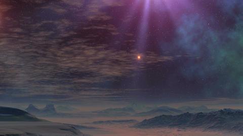 UFO flies up on a beam of light Animation