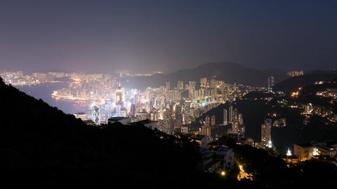 Hong Kong Day to Night Timelapse Footage