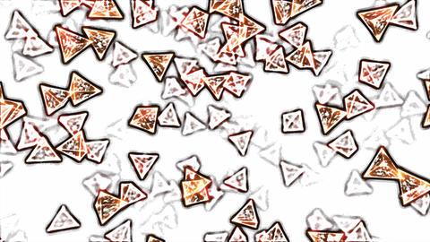 Abstract Rotating Glass Pyramids - Loop Orange Animation