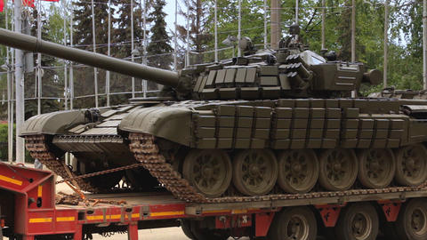 Tank is on the trailer Live Action
