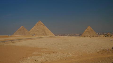 Cairo Gyza Great Pyramids Footage