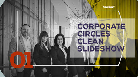 Corporate Circles Clean Slideshow After Effects Template