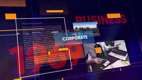 Corporate Timeline Original Slideshow After Effectsテンプレート