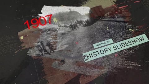 The History Timeline Slideshow After Effects Template