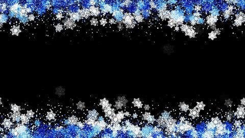Frame Snowflakes Loop CG動画素材