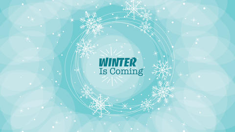 Abstract winter background with snowflakes Apple Motion Template