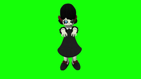 Zombie Horror Doll HD Video Animation