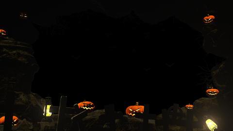 Skull Stone Flame 02 4K CG動画素材