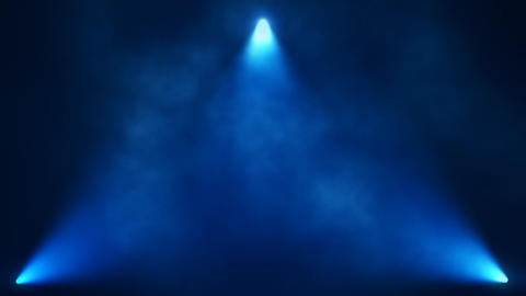 Blue Triangle Stage Lights and Smoke VJ Loop Motion Background Animation