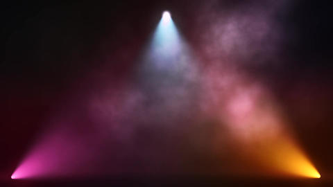Colorful Triangle Stage Lights and Smoke VJ Loop Motion Background Animation