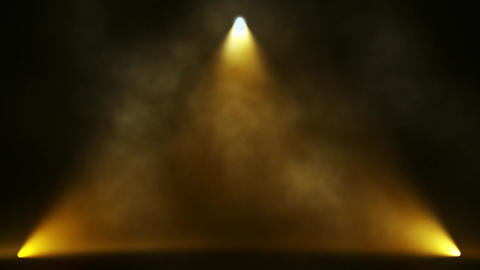 Gold Triangle Stage Lights and Smoke VJ Loop Motion Background Animation