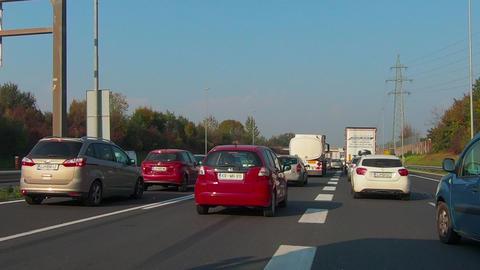 Traffic jam on Ljubljana beltway and A1 junction Live Action