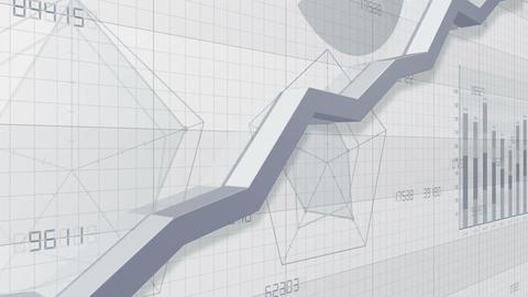 Business Graph 2018 3 SuA1w 4k CG動画素材