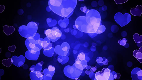 Blue Loving Hearts Animation