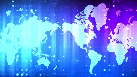 Global Business World News Animation