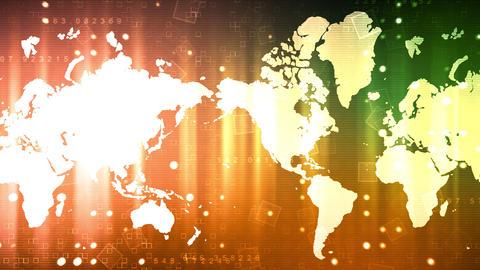 World Map Business News Animation