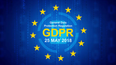 General Data Protection Regulation - GDPR motion background Animation