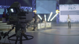 The camera shoots TV show in the Studio Footage