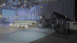 A large empty TV Studio Footage