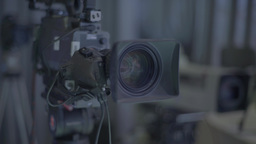 TV camera during recording Footage