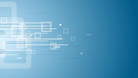 Bright blue technology video animation Animation