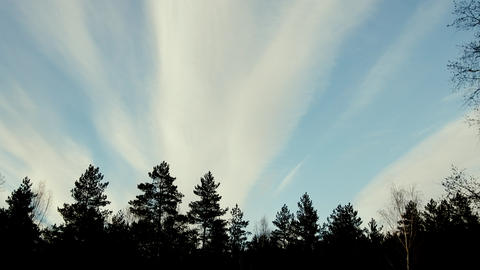 High-altitude clouds like cloud Live Action
