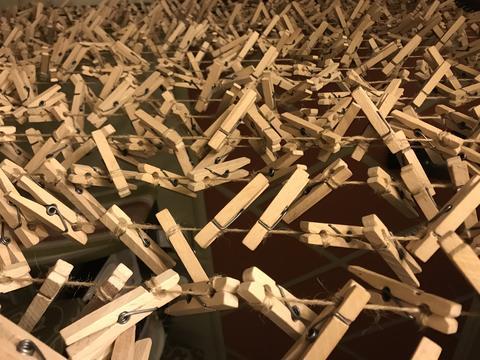 Mane wooden closespins Photo