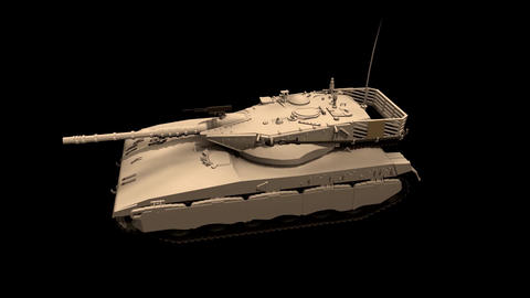 Assembling a battle tank in parts Black background Footage Stock Video Footage