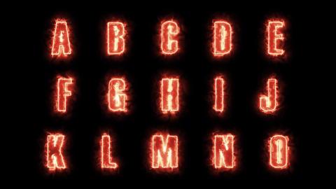 4k Burning Alphabet Letters Pack Animation