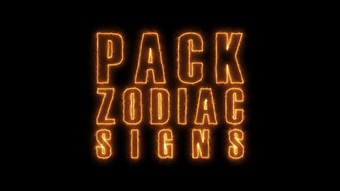 4k Fire Zodiac Signs And Icons Pack Animation