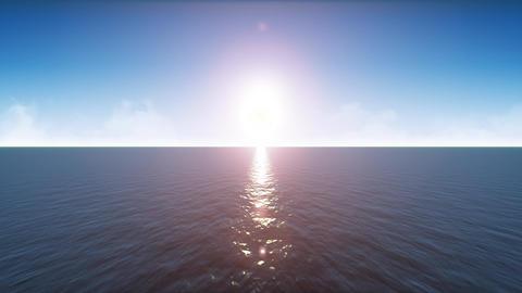 4k Ocean Landscape Horizon Loop Animation