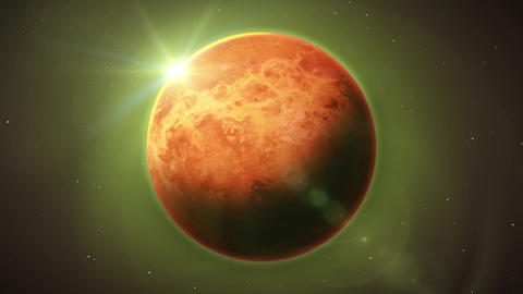 Venus Planet Inside Space Background Animation